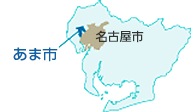 Map Ama City is located the west of Nagoya-shi.